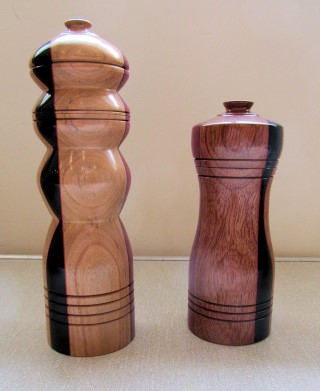 Salt and pepper mills by Chris Withall