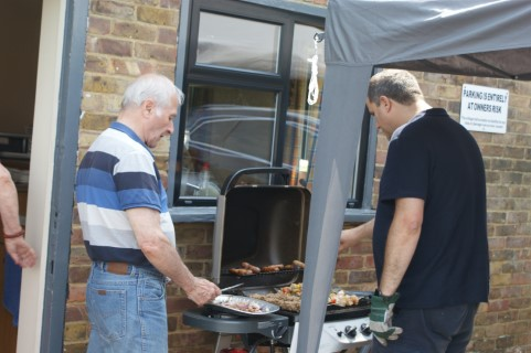 Peter and Paul at the BBQ (Where is Mary?)