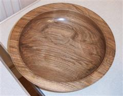 Walnut bowl by Dave Matson