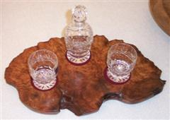 Burr tray and glassware (Anon)