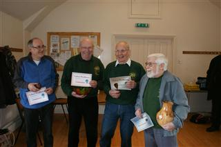 The happy winners. Howard Overton, Norman Smithers, Pat Hughes and Dave Reed