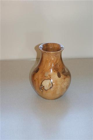 Norman Smithers Highly commended Yew vase