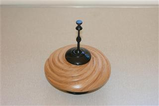 Beech vessel with finial by Bernard Slingsby