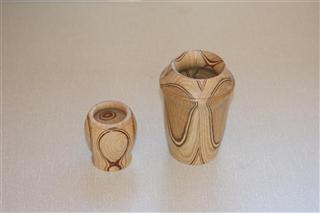 Two segmented vessels by Bernard Slingsby
