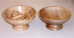Spalted beech and London plane bowls by John Brocklehurst