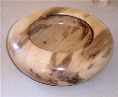 Spalted sycamore bowl by Bob Mann