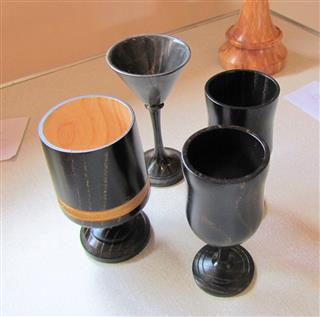 David Reed's Highly commended vases/goblets