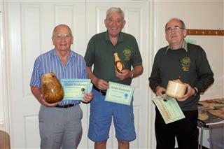 The winners Dave Reed Howard Overton and Bert Lanham received their certificates