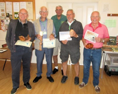 The August winners with Bert who counted the votes