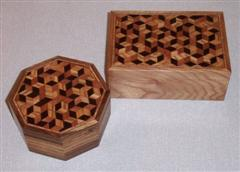 Tonbridgeware boxes by Mike Fisher