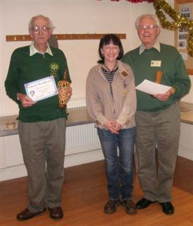 Bernard Slingsby and Frank Hayward get commended certificates