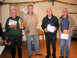 This months certificate winners presented by Simon Hope