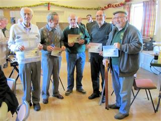 Winners of the December turning of the month certificates