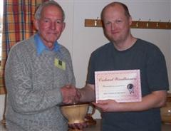 The monthly winner David Ward Presented by Mark Baker