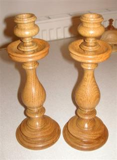 A pair of candlesticks by Frank Hayward