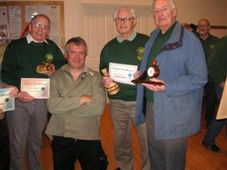 This months certificate winners with Phil Irons (On his knees)