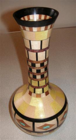 Frank Hayward's Segmented vase won a commended certificate