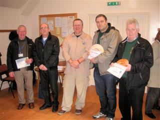Les Thorne presented the certificates to Keith Leonard Dave Reed Paul Hunt and Chris Withall