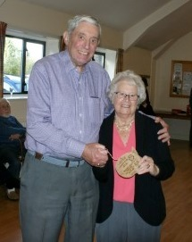 Sheila presented with the Ladies lowest score plaque