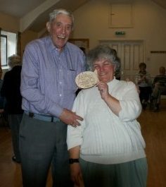 Bert presented with the gents lowest score plaque