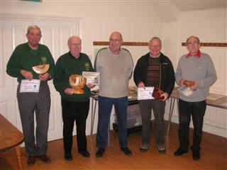Peter Blake presented the first certificates for 2013 to Pat Hughes Dave Hadler Dave Reed and Keith Leonard