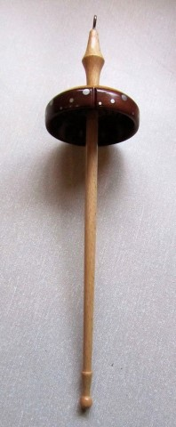 Keith Leonard's commended drop spindle