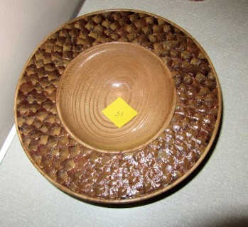 Howard's highly commended decorated elm bowl