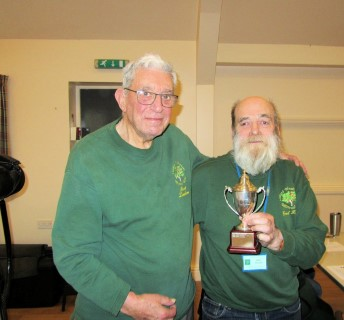 Fred presented Bert with the orchard woodturners trophy