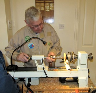 Keith turning drop spindles