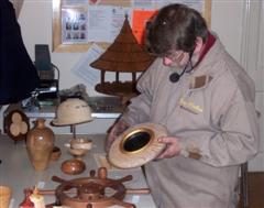 Tony checking each entry before announcing his choice of Dave Ward's bowl as winner