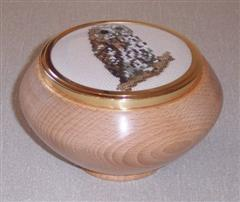 Lidded bowl by Trevor Commins