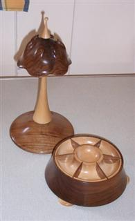 Jewelry stand with bowl by Howard Overton