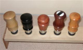 Bottle stoppers by Fred Taylor