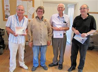 The winners of the july certificates with Tony Walton