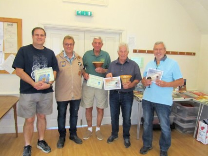 The July winners with Gary Rance