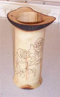 Decorated vase by Bert Lanham