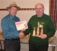 The monthly Highly commended Pat Hughes received his certificate from Stuart King
