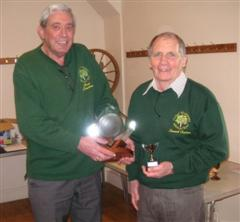 Bert presents Howard Overton with the Bill Alston Trophy for 2008