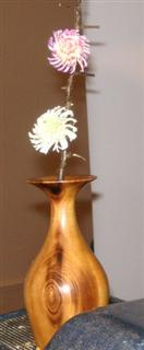 A couple of flowers added to tbe bud vase