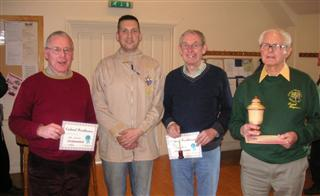 This months certificate winners with Mark Sanger