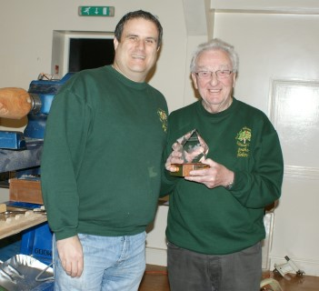 Paul presents Graham with the Orchard Memorial trophy