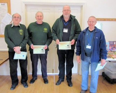 Winners of the March certificates chosen by club members