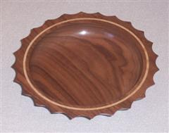 The winning piece <br>Walnut bowl