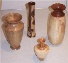 4 vases by Mike Turner