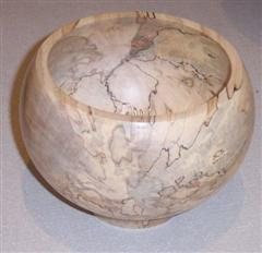 Spalted bowl by David Ward