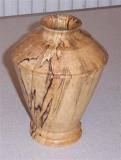 Spalted vase by Jim Brown