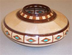 Howard's segmented bowl made up with 313 pieces