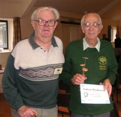 The monthly commended Bernard Slingsby received his certificate