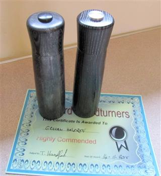Graham's highly commended salt and pepper mills