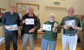Winners of the October certificates